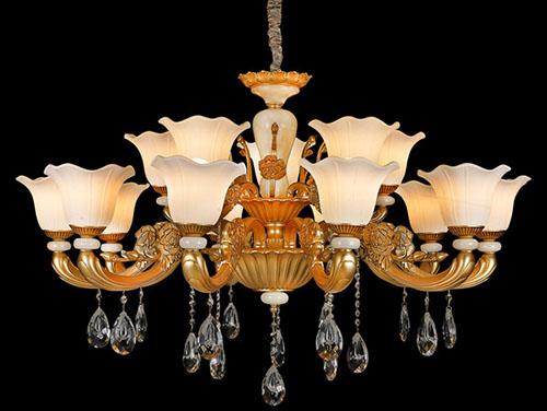 欧式水晶灯怎么安装