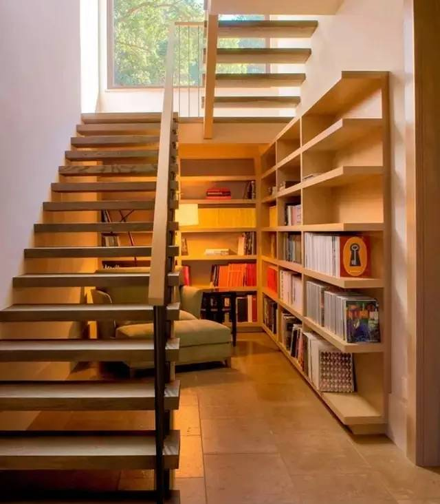 楼梯书柜图片大全