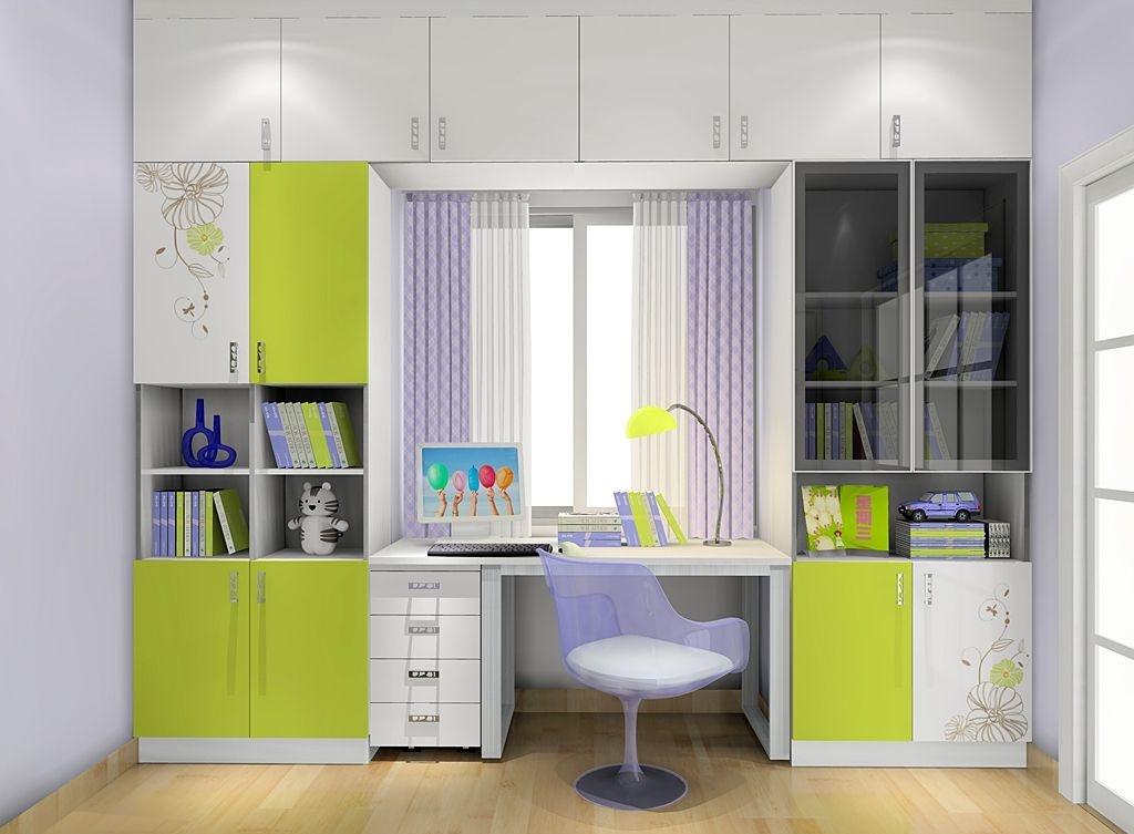 儿童房书柜效果图赏析,益智儿童房书柜设计_装修设计