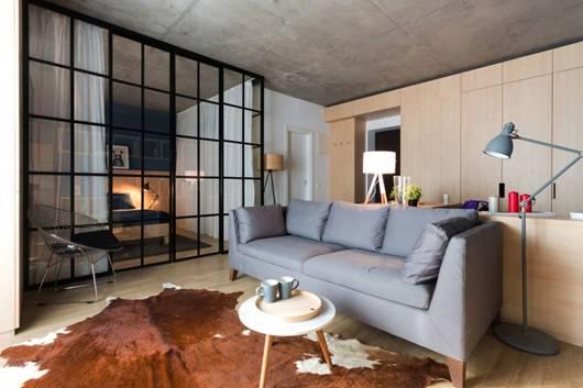 50平米一居室小户型设计 空间完美利用_装修鉴赏_搜狐