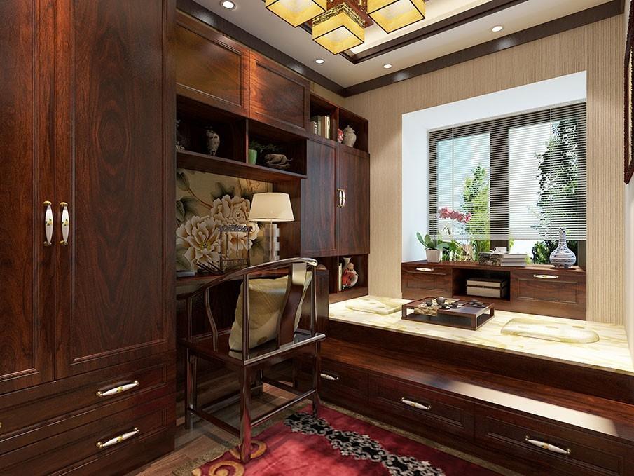 5平米的小卧室,通过定制榻榻米床与衣柜,书柜,书桌一体化设计