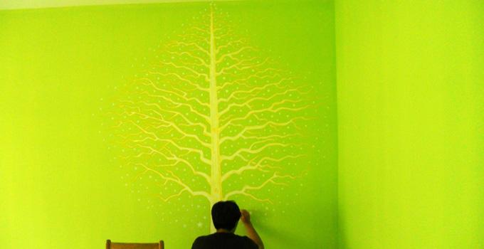 手绘涂鸦墙的制作方法及经验分享