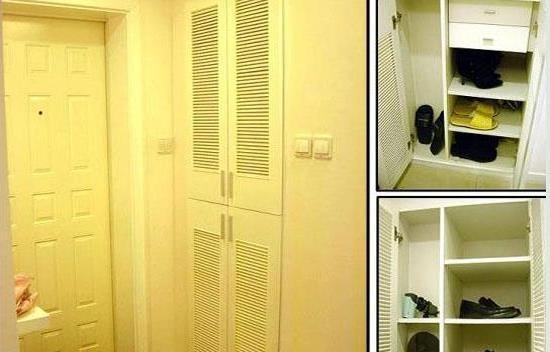 入户玄关鞋柜隔断装修设计效果图