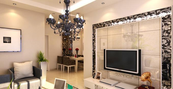 更好利用空間 餐廳與客廳隔斷電視墻設計