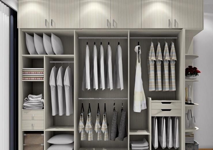 开放式衣柜的尺寸图片