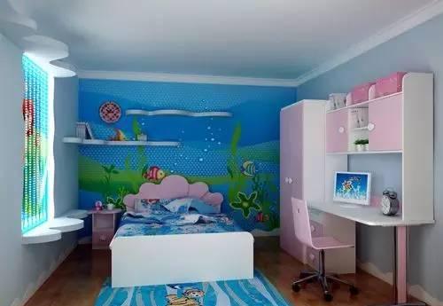 迪士尼主题公主儿童房效果图