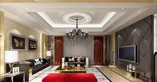 欧式最新客厅造型吊顶效果图设计大全图片