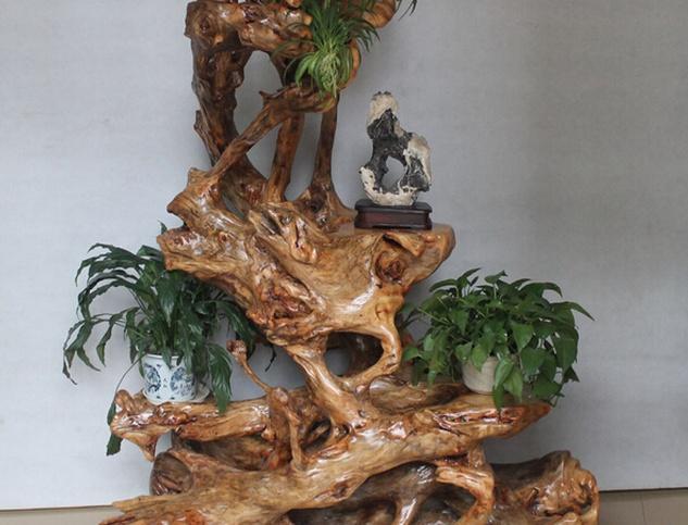 木制精品根雕花架好不好 怎么制作根雕花架