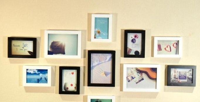 照片墙相框组合如何设计 怎么安装照片墙图片
