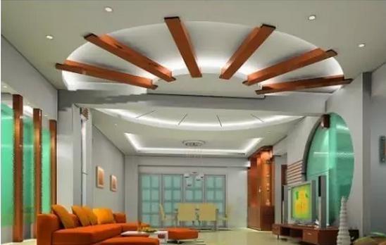 1,很豪华创意的客厅吊顶,是不是一眼就被吸引住了.图片
