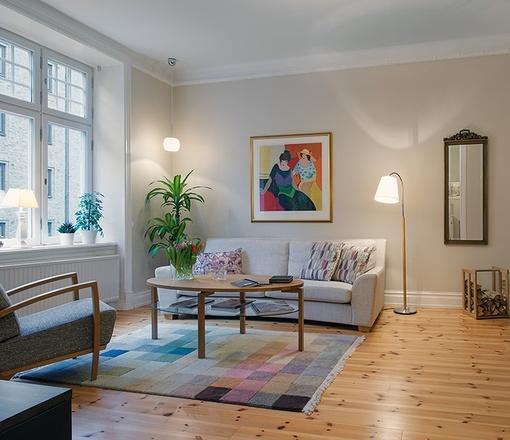 104平米复古元素装点的北欧公寓图片