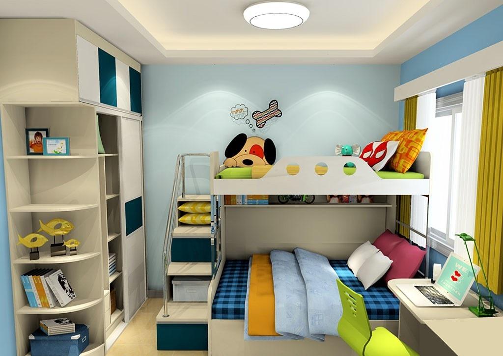 儿童房布置效果图,打造孩子梦想王国!