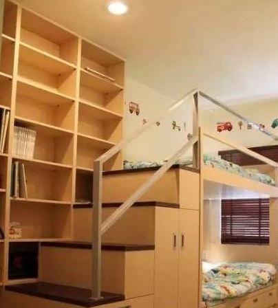 一个儿童房上下铺搞定二胎时代_装修软装_搜狐焦点