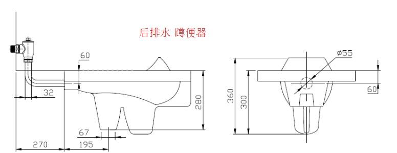 蹲便器尺寸都是多少呢?马桶坑距在设计中该注意什么呢?图片