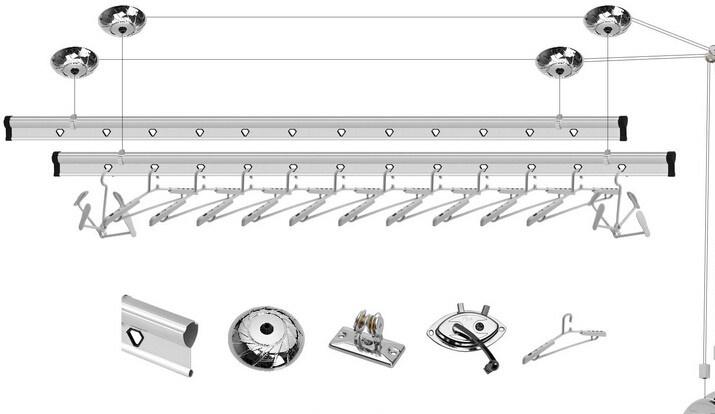 装修攻略 安装 文章    吊顶悬挂式升降晾衣架安装适合安装在客厅与