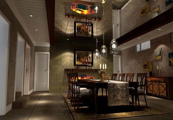 一般情况下,地下室可安排工作室,家庭影院,健身房,小型酒吧,棋牌室等