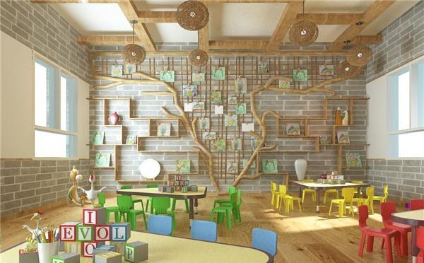 幼兒園室內墻面裝飾設計 幼兒園墻面裝飾注意事項