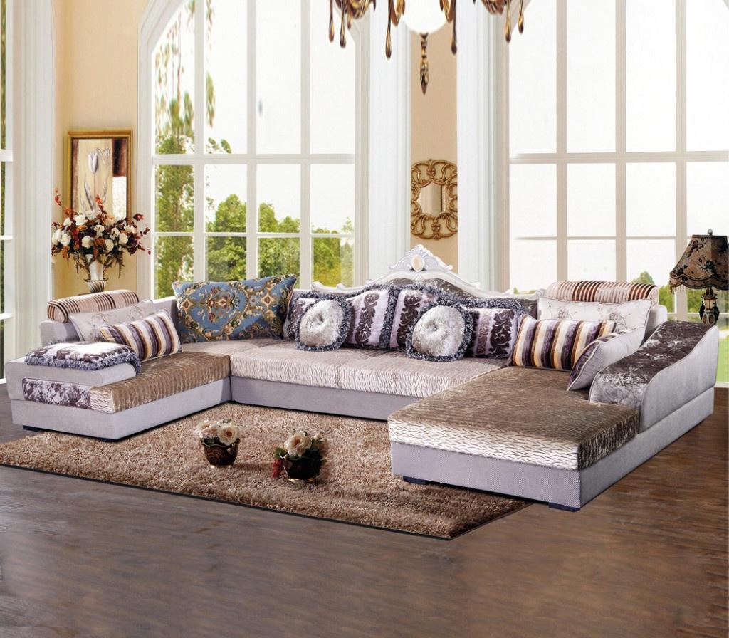 蓝天布艺沙发设计时尚图片