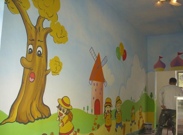 幼儿园手绘墙画素材及价格大全