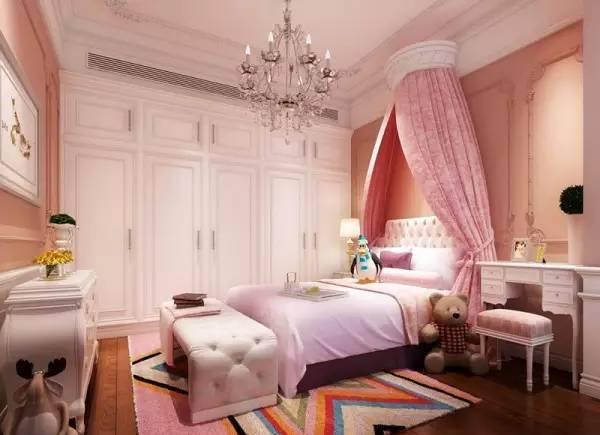 可以满足每个小女生的公主梦,公主卧室不需要多豪华装饰,舒适与美观更