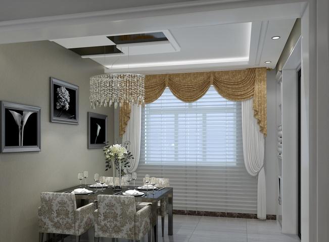 餐厅窗帘效果图 时尚家居的选择_装修预算_搜狐焦点