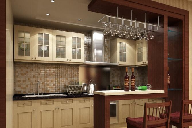 欧式开放式厨房吧台的好处图片