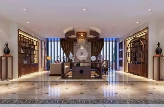 中式客厅装修效果图 奢华的视觉效果