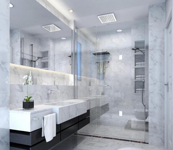 装修效果图)装修业主觉得自己的小面积卫生间根本无法实现干湿分区,其