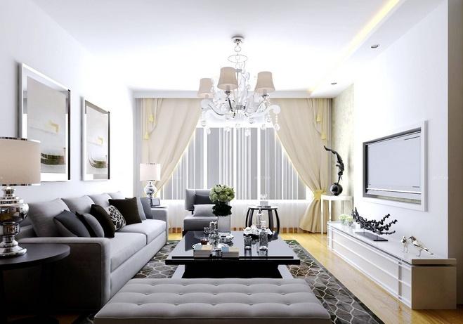 白色客厅如何搭配窗帘颜色 窗帘清洗方法